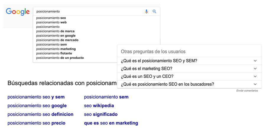 seo on page palabras clave