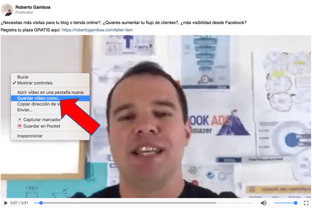 descargar videos de facebook desde pc o mac